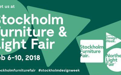 Vi udstiller på Stockholm Furniture Fair 2018