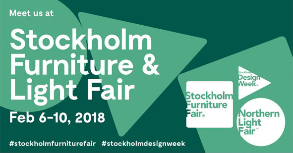Vi udstiller på Stockholm Furniture Fair 2018