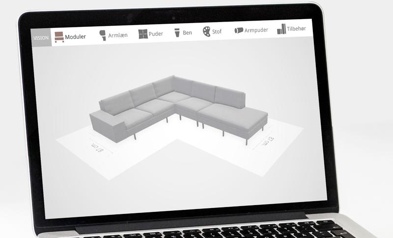 Design din egen unikke Vision Sofa med vores nye program